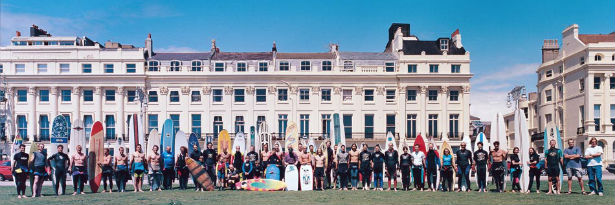 The original Paddle Round the Pier team in 1997